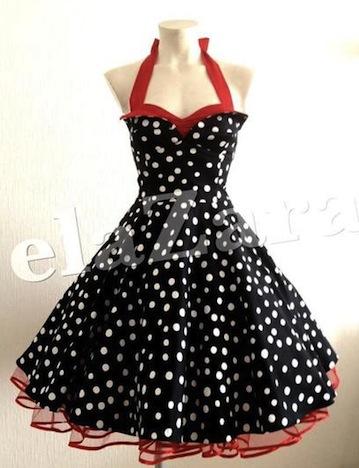 elaZara Petticoat Kleid schwarz rot weiß