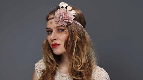 Jazzafine 20er Jahre Haarband puder nude