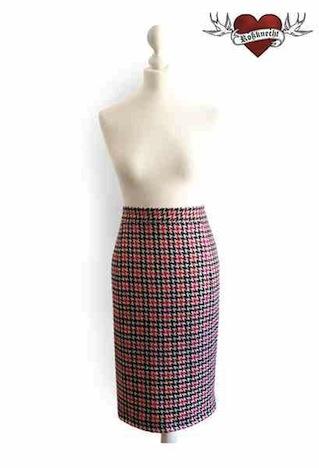 Rossknecht Modedesign Tweed Bleistiftrock
