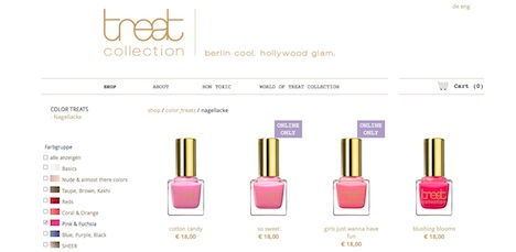 treat collection homepage onlineshop