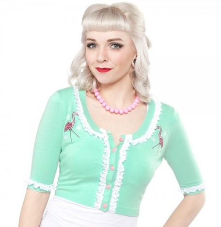 Sourpuss Cardigan Flamingo Buy Unlike