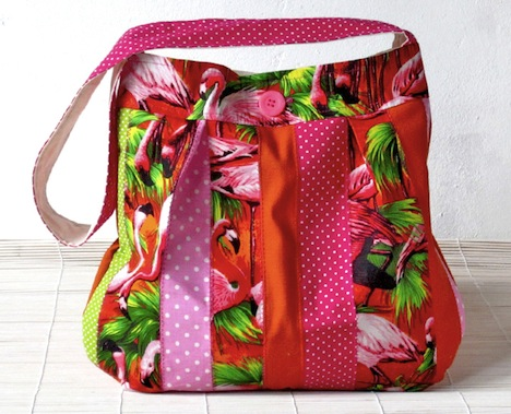 Taschenpilzen´s Sachen Schultertasche Flamingo