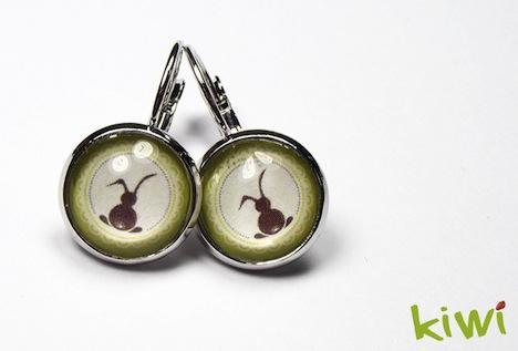 einfach kiwi Haeschen Ohrschmuck