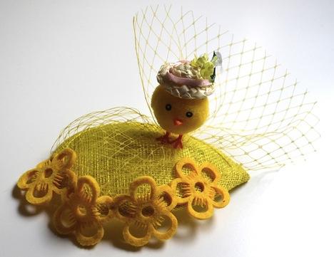 mon bibi Osterschmuck fuer Ostern Fascinator gelb