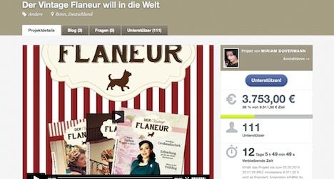 Crowdfunding Vintage Flaneur