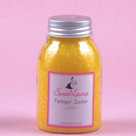 Sweet Laura Farbiger Zucker gelb