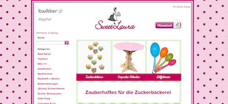 Sweet Laura Onlineshop Homepage