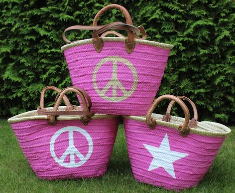 Delia Summer Einkaufstasche Peace Stern