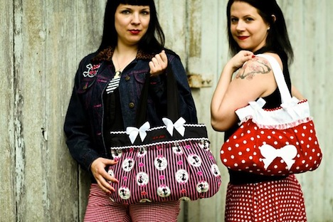 A*Nuke Taschen Models Pinup Style Polka Dots Musthave der Woche Gewinnspiel Pinup-Fashion-Magazin