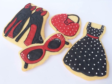 Queens and Cookies PinUp Fashion Cookie Set 4