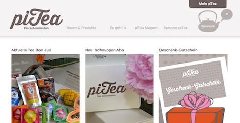 piTea Homepage pitea.de