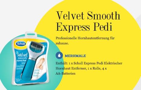 Velvet Smooth Express Pedi Hornhautentfernung