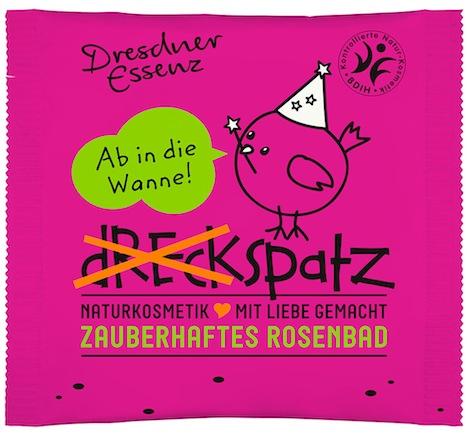 Tuete mit Badezusatz Dreckspatz Zauberhaftes Rosenbad