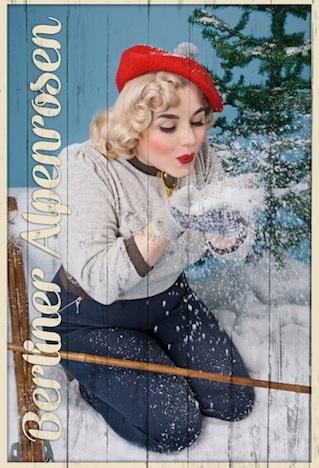 Berliner Alpenrosen Kollektion Herbst Winter 2014 2015 Imagebild Frozen Hibiscus