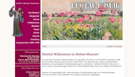 Broehan Museum Homepage Berlin