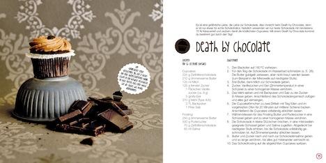 Buch Verrueckt nach Lily's Cupcakes Hoelker Verlag Rezept death by chocolate Seite 34+35