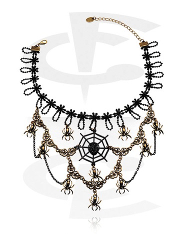Crazy Factory Collier Halloween Spinnen Spider