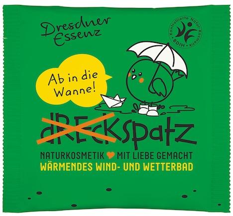 Tuete mit Badezusatz Dreckspatz Waermendes Wind- und Wetterbad