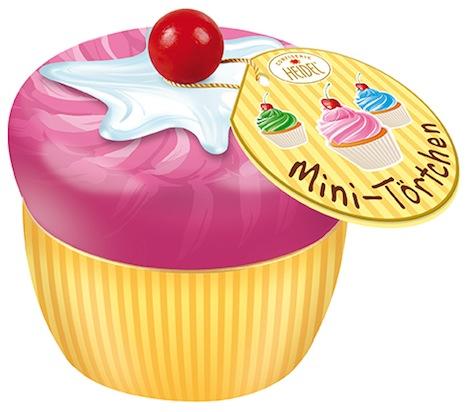 Heidel Confiserie Mini-Toertchen Cupcake Schokolade 40866_1