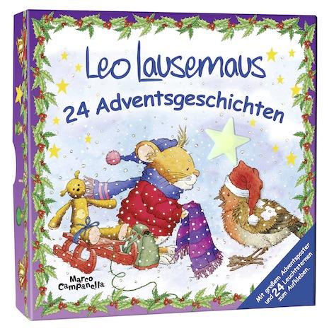 049678 Leo Lausemaus Adventsbox 24 Adventsgeschichten Lingen Verlag