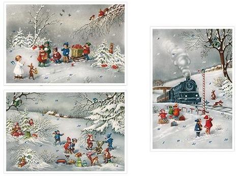 Adventskalender Karten Nostalgie 3 Korsch Verlag
