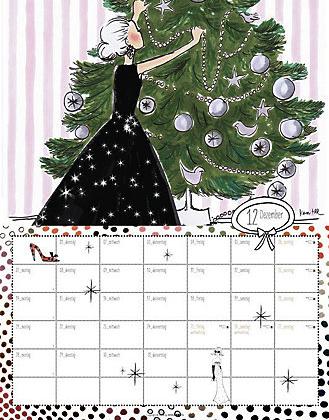 Dottie Polkas Vintage Welt 2015 Kalender Dezember