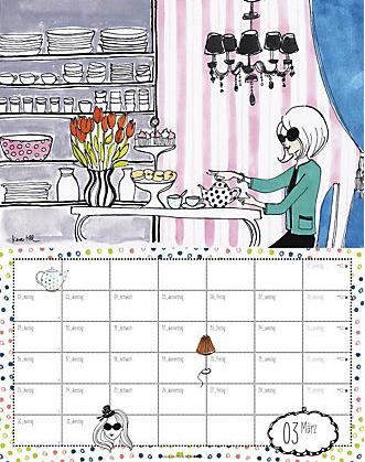 Dottie Polkas Vintage Welt 2015 Kalender