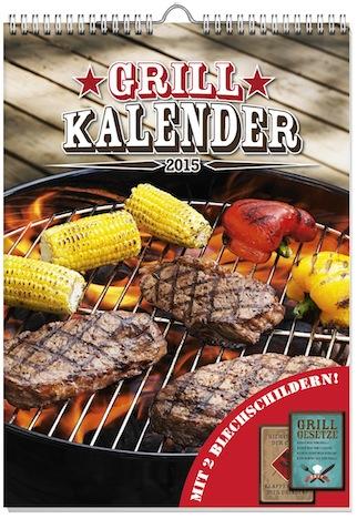 Kalender Grillen 2015 2 Blechschilder Weltbild Verlag Cover 5789855_11260
