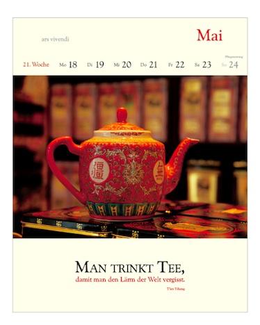 Literarischer Tee Kalender ars vivendi 2015 21. Woche Mai