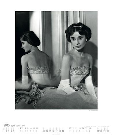 Audrey Hepburn 2015 Kalender KV&H Verlag April