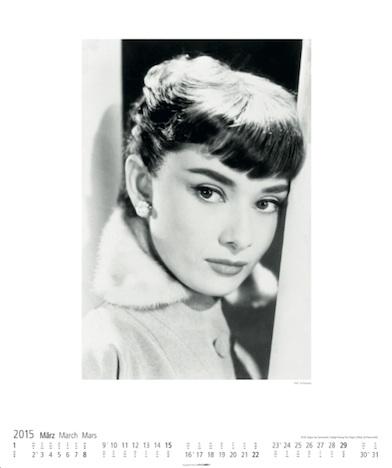 Audrey Hepburn 2015 Kalender KV&H Verlag Maerz Kalenderblatt