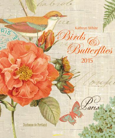 Birds & Butterflies - Kathryn White Korsch Verlag Cover Kalender 2015
