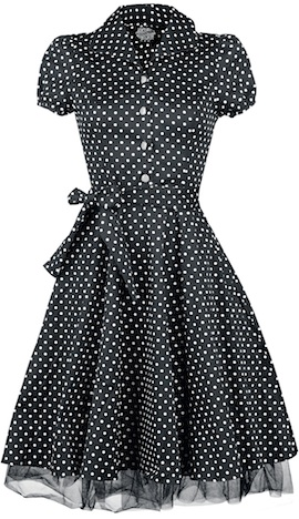 EMP Black White Small Dot Long Dress H&R London