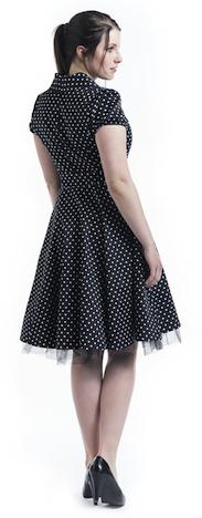 EMP Kleid Polka Dots Rückseite H & R London