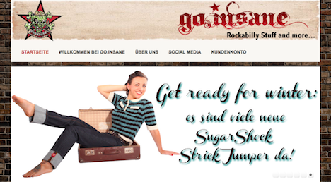 Go.Insane Homepage Onlineshop Webshop