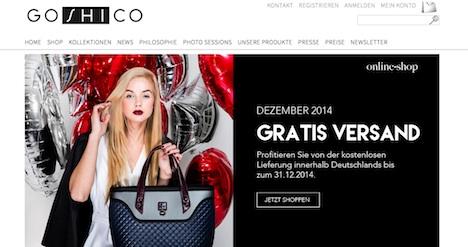 Goshico Homepage Onlineshop Webshop