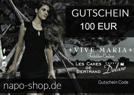 Gutschein napo-shop 100 EUR blanko