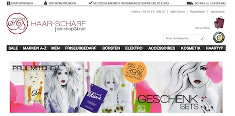 Hair-Shop24.net Webshop Onlineshop Homepage