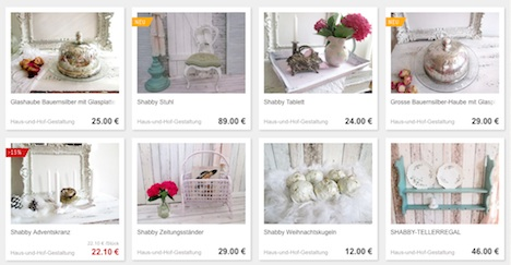 Haus- und Hofgestaltung DaWanda Shop Onlineshop