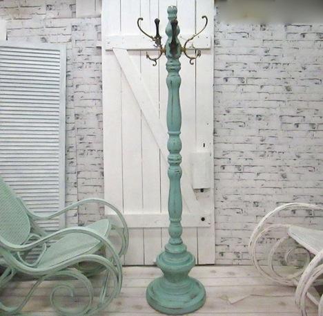 Haus- und Hofgestaltung Garderobenstaender Shabby Chic blau