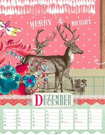 I remember the Day 2015 Kalender Libby McCullin KV&H Verlag Dezember