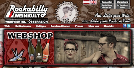 Rockabilly Weinkult Homepage Webshop Onlineshop