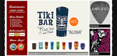 The Studio Deluxe Homepage Tiki Produkte