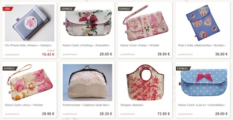 Zuckerfrosch DaWanda Shop Onlineshop