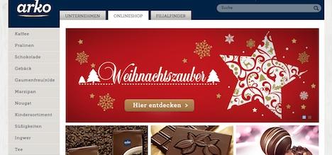 arko Confiserie Onlineshop Webshop Homepage