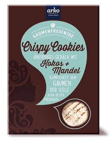 arko GaumenFreu(n)de Crispy Cookies Kokos + Mandel