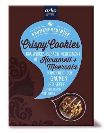 arko Gaumenfreu(n)de Crispy Cookies Karamell + Meersalz