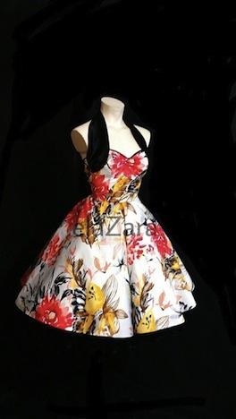 elaZara  50er Jahre Petticoatkleid mit Blumenmuster