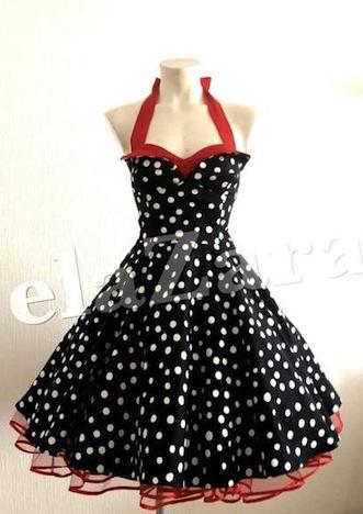 elaZara Vintage Petticoatkleid in schwarz_weiß Polka Dots