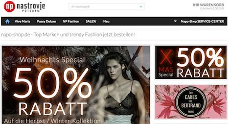 napo shop Homepage Webshop Onlineshop Nastrovje Potsdam